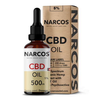 CBD Öl, 5%, Narcos, Tropfen, 10 ml