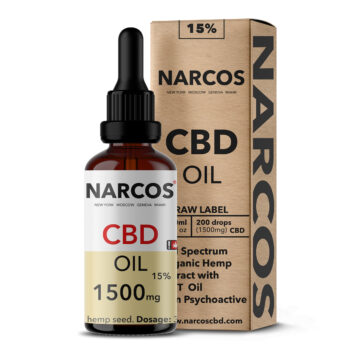 CBD Öl, 15%, Narcos, Tropfen, Flasche,10 ml